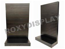 Black Wood Pressed 80 Inch Tower Style Slat Wall Floor Fixture Display