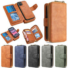 Zipper Wallet Leather Flip Cover Case For iPhone 12 Pro 11 XR XS Max 6S 7 8 Plus