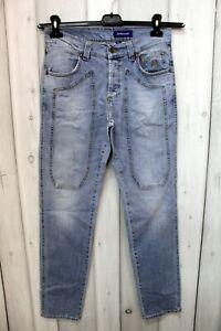 Jeans Jeckerson Uomo Taglia 46 Blu Denim Pantalone Man Cotone Logo Italy Pant