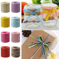200M Paper Raffia Cord Craft Twine Rope String Gift Wrap Braided Rope New