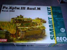 DRAGON 1/35 SCALE WWII GERMAN PZ.KPFW.III AUSF.M KURSK 1943  W/INTR KIT NO 6512