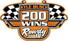 NEW FOR 2019 Kyle Busch 200 Wins Racing Sticker Decal - SM thru XL - var colors