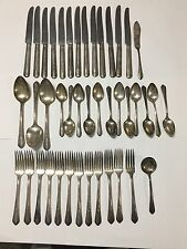 Genessee Silverplate Lynwood aka Memory 1934 Flatware 42 Pc Mixed Lot