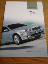 JAGUAR X TYPE PRICE LIST BROCHURE AUG. 2003  jm