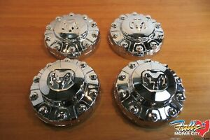 2019-2020 Dodge Ram 4500 5500 Two Front & Two Rear Wheel Center Hub Caps New OEM