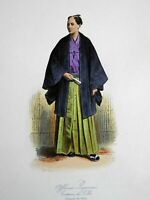 Japanese Officer Costume Print Military Fashion 1860's Paquet print