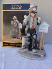 """Emmett Kelly Jr Exclusive """" On The Road Again """" Figurine - Perfect Shape In Box"""