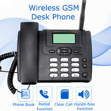 Fixed Wireless GSM Desk Phone SIM Card Mobile Home Office Desktop Telephone