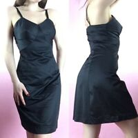 vintage sears black nylon and lace slip lingerie dress negligee
