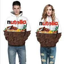 Druck Kapuzenpullover long sleeve Couple hoodie sweater nutella Kakao Schokolade