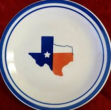 State of Texas Salad Dessert Plate by Mainstays 7.50\  Lone Star Red White Blue & Mainstays Dinnerware and Serving Dish | eBay