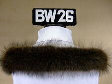 Kapuzenstreifen 56 cm Pelz Fell Kapuze Fellstreifen Schal Neu Waschbär BW26