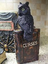 "NWT11"" RAZ Black Owl on WITCHES ""Curses"" SPELL BOOK HALLOWEEN PROP Table Decor"