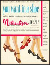 1949 vintage ad for Naturalizer Ladies Shoes