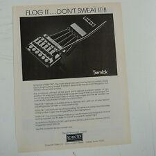 retro magazine advert 1984 SCHECTER TREMLOK