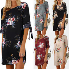 Women's Dress Floral Summer Beach Cocktail Evening Party Sundress Shift Dress