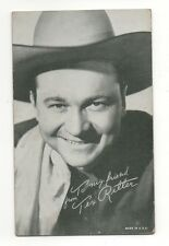 Tex Ritter 1940's 1950's Salutations Cowboy Exhibit Arcade Card