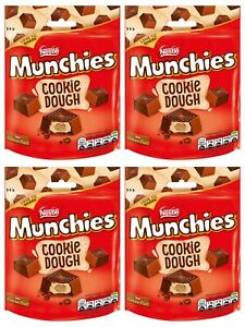 Munchies Cookie Dough Pouch 4 Bags x 101g Love to Share these Nestle Favourites