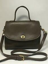 Vintage COACH Manor Taupe Leather Turnlock Handbag Crossbody #9977