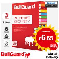 BullGuard Internet Security 2019 (3 User/1 Year) 5GB Backup PC Antivirus Windows