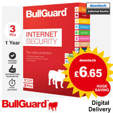 BullGuard Internet Security 2019 (3 User/1 Year) 5GB Backup PC Antivirus Windows