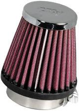 "RC-1060 k&n chrome universel filtre à air 1-15/16""FLG, 3""B, 2""T, 3""H (kn universel"