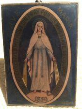 "Antique 1830 Ave Maria Radio League Frames Picture 4 1/2"" X 3 1/4""  ""Rare"""