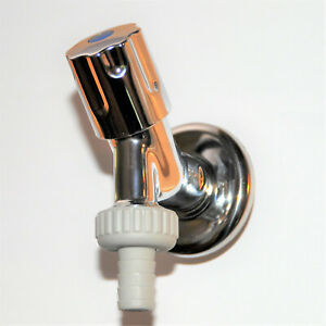 "1/2"" Wasserhahn Auslaufventil Rückflussverhinderer Geräteanschlussventil verchr."