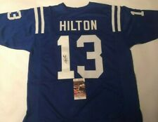 f8220d06ce7 TY Hilton Autographed Indianapolis Colts Custom Blue Jersey JSA Witnessed  COA