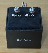 PAUL SMITH silver coloured football soccer ball metal cufflinks cuff links
