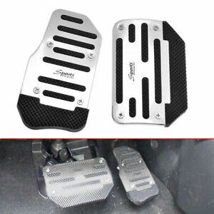 Universal Silver Non-Slip Automatic Car Gas Brake Pedals Pad Cover Accessories