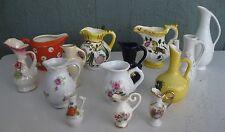 Lot of 14 Vintage Miniature Ceramic Pitchers Creamers Japan