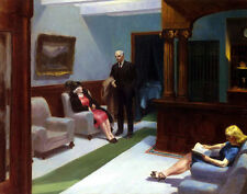 Hopper Edward Hotel Lobby Canvas 16 x 20 #4702