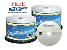 100-Pack Optical Quantum Logo Top DVD+R DL Dual Double Layer Disc 8.5GB