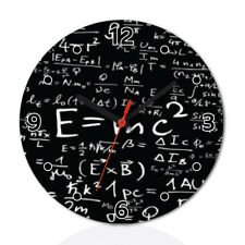 E mc2 Math Formula Funny Wall Clock Home Room Decor Gift