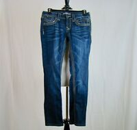REROCK for Express Women's Skinny Dark Wash Stretch Jeans - Size 2
