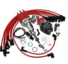 New Pro Billet Ignition Distributor W/ Coil & Wires For Ford 221 255 289 302W V8