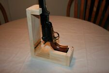 Folding Pine Cap and Ball Black Powder Revolver/Pistol Loading Stand
