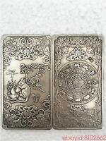 tibetan Old silver tibet Nepal statue Chinese zodiac Mouse amulet thangka