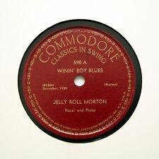 "Jelly Roll Morton ""Winin 'Boy Blues/mister Joe"" (EE +) Commodore 590 Rpm [78]"
