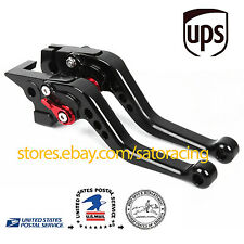US For Yamaha YZF R6 2005-2016 Short CNC Brake Clutch Levers Set 2015 2014 2013