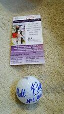 Matt Fitzpatrick Ryder Cup signed 2014 US Amateur logo golf ball JSA Q39883 1/1