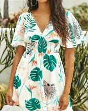 CUPSHE Monstera Palm Leaf Print swimsuit coverup NWT XL