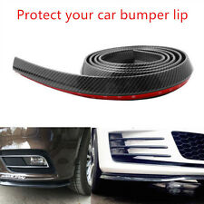 2.5M Car Auto Carbon Fiber Front Bumper Lip Splitter Chin Spoiler Body Kit Trim