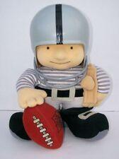 Vintage 1980s Tudor NFL football Huddles 12 inch plush doll Oakland Raiders