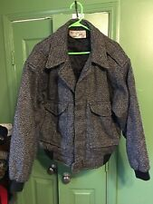 Vintage 80's Pere Mar Black And White Wool Coat / Jacket Mens Size Xl