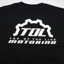 NEW TOL TOP OF THE LINE DESIGNS MOTORCYCLE RACING TEE T SHIRT Sz Mens 3XL Black