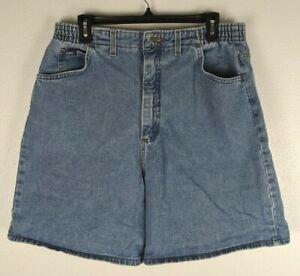 Vintage Lee Women's Mom Jean Shorts High Rise Light Wash Denim Size 6 Medium