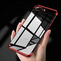 Luxury Ultra Slim Shockproof Silicone Clear Case Cover For Apple iPhone X 8 7 6s