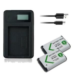 2X Battery & USB Charger NP-BX1 for Sony CyberShot DSC-HX50V DSC-HX99 DSC-H400